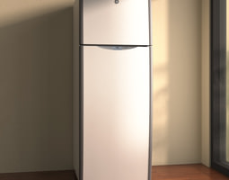 GE Top Freezer Refrigerator 3D model