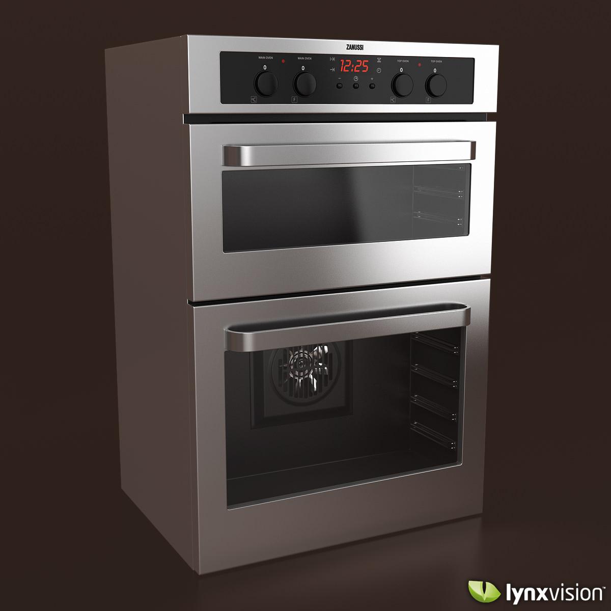 zanussi electric double oven 3d model max obj fbx mtl 1