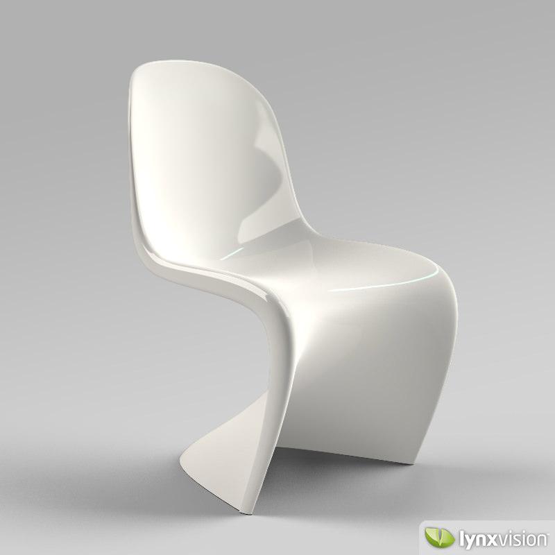 panton chair 3d cgtrader