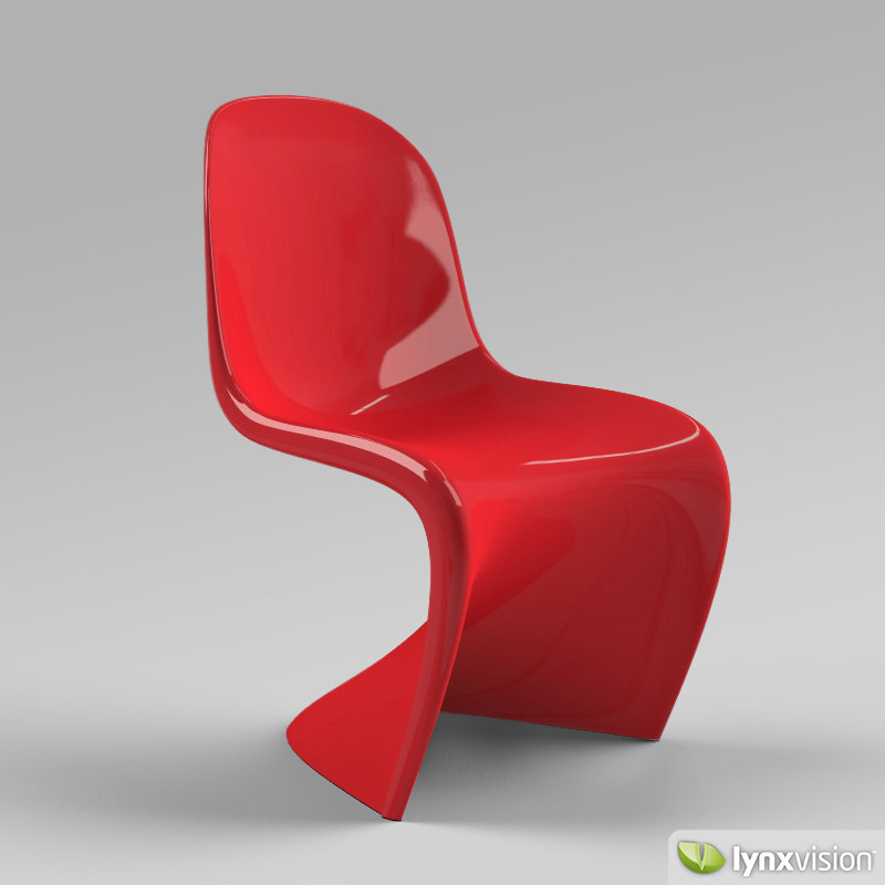 panton chair 3d model max obj 3ds fbx. Black Bedroom Furniture Sets. Home Design Ideas