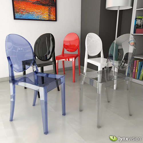 3d model victoria ghost chair by philippe starck. Black Bedroom Furniture Sets. Home Design Ideas
