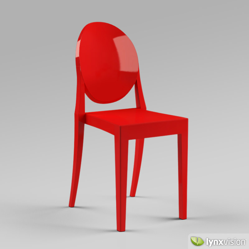 Victoria ghost chair by philippe starck 3d model max obj for Chaise ghost philippe starck