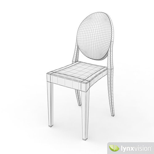 ... Victoria Ghost Chair By Philippe Starck 3d Model Max Obj 3ds Fbx Mtl 7