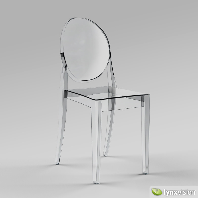 victoria ghost chair by philippe starck 3d model max obj. Black Bedroom Furniture Sets. Home Design Ideas
