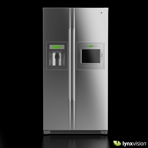 lg side by side refrigerator 3d cgtrader. Black Bedroom Furniture Sets. Home Design Ideas
