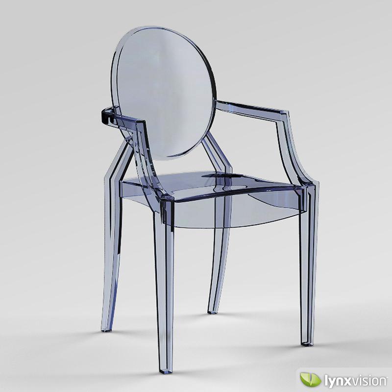 ... Louis Ghost Armchair By Philippe Starck 3d Model Max Obj 3ds Fbx Stl  Mtl 2 ...