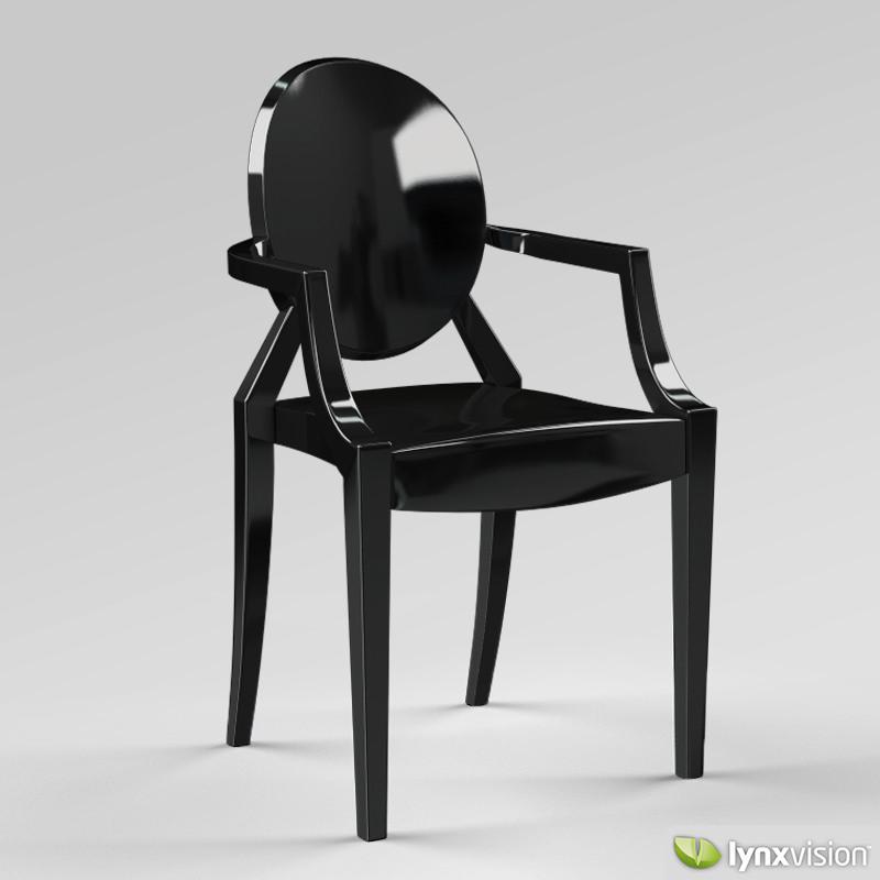 ... Louis Ghost Armchair By Philippe Starck 3d Model Max Obj 3ds Fbx Stl  Mtl 6 ...