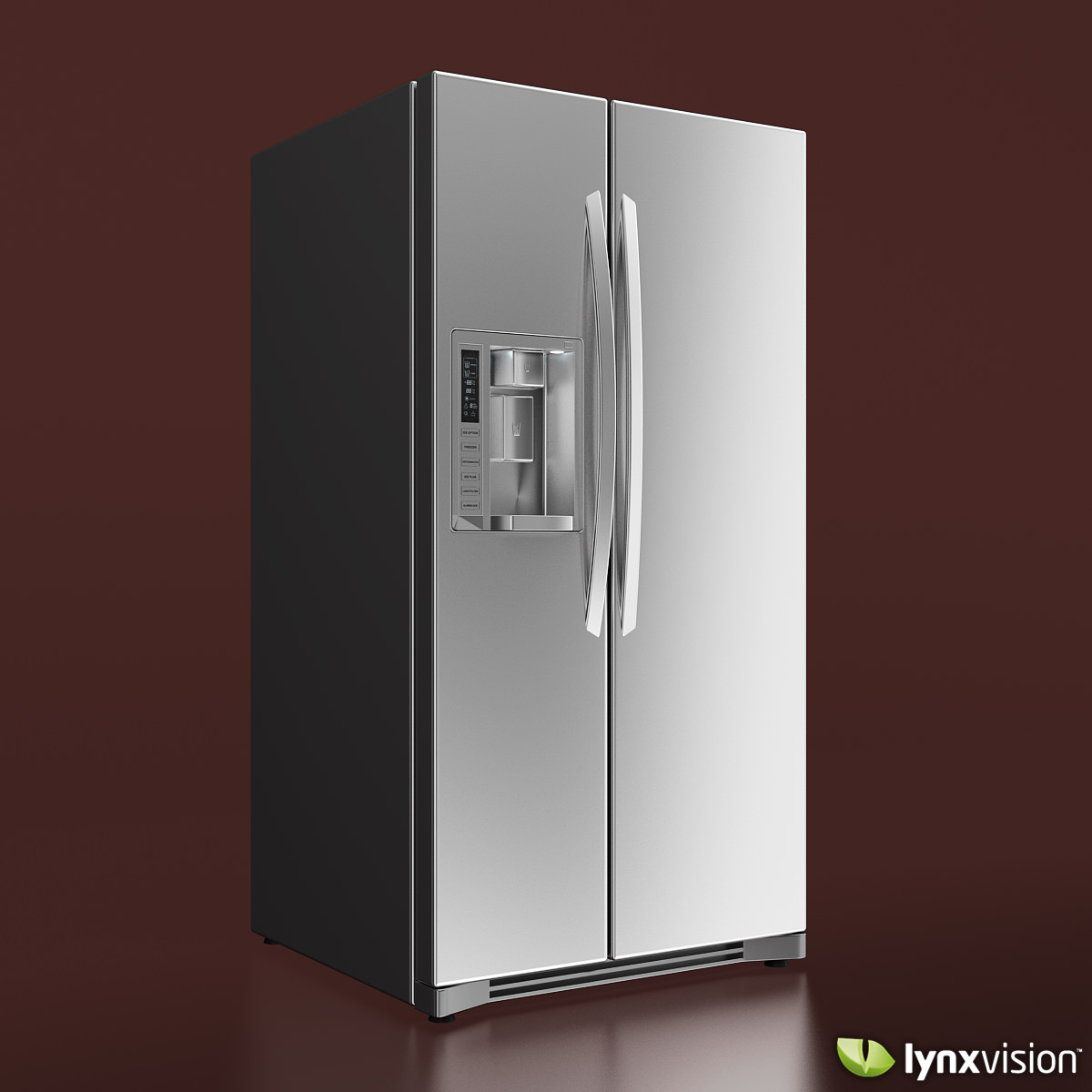 3d Model Lg Side By Side Refrigerator Cgtrader