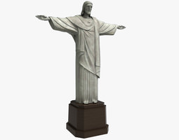 3D asset Christ Redeemer statue