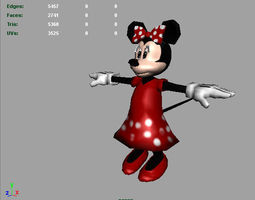 3D asset Minnie Mouse AAA