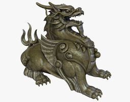 realtime 3d model chinese supernatural beast pixiu