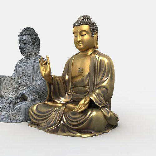3d Models Buddha Statue 3d Model Max Obj 3ds Fbx Stl