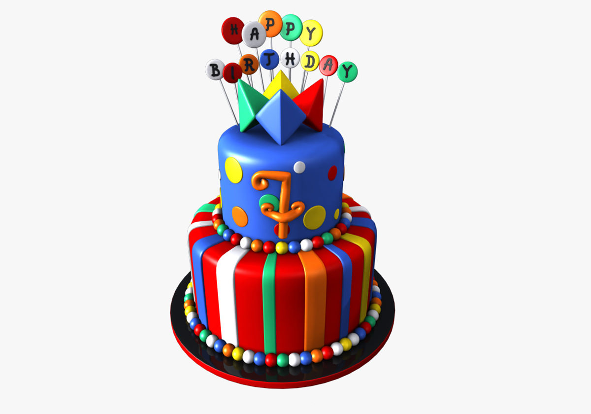 3D Models Birthday Cake