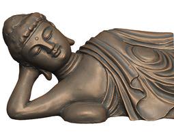 print ready 3d model lying buddha statue
