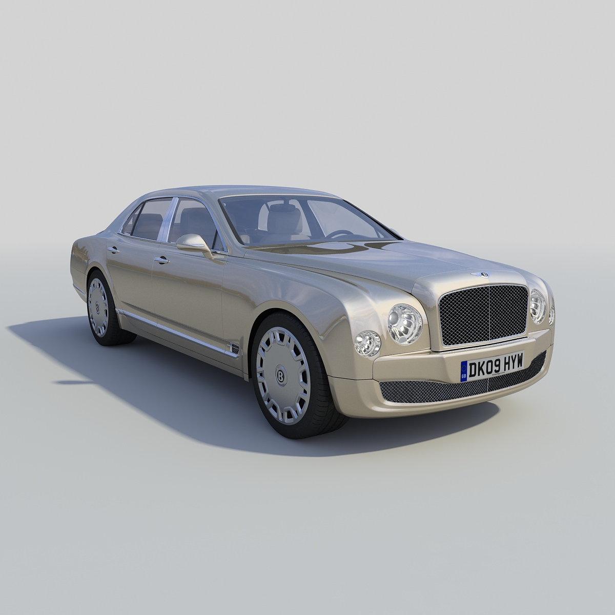 Bentley Mulsanne: Bentley Mulsanne 2011 3D Model MAX