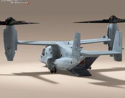 V-22 Osprey US Marines 3D Model