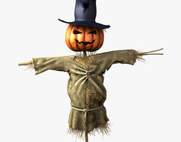 3D model Scarecrow cornfield