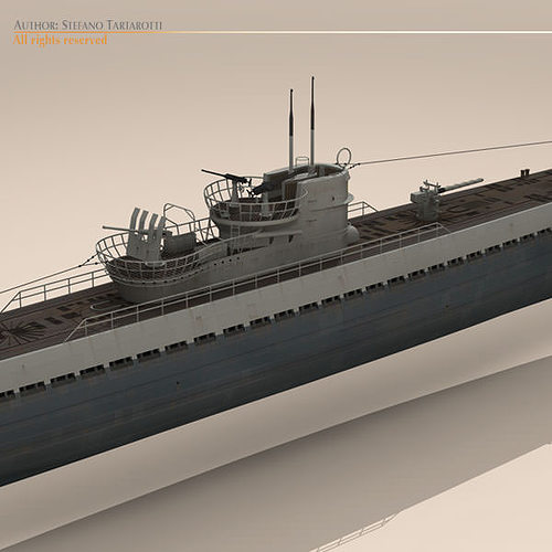 type ix u-boat submarine 3d model max obj 3ds fbx c4d dxf 8