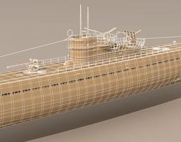 type ix u-boat submarine 3d model max 3ds fbx c4d dxf mtl