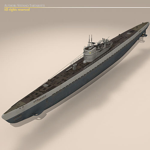 type ix u-boat submarine 3d model max obj 3ds fbx c4d dxf 3