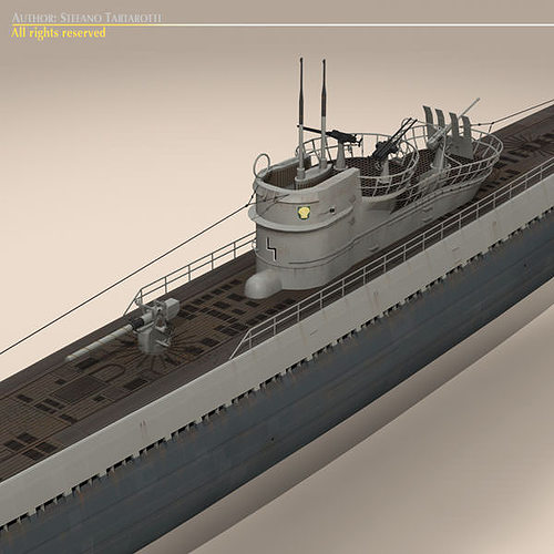 type ix u-boat submarine 3d model max obj 3ds fbx c4d dxf 11