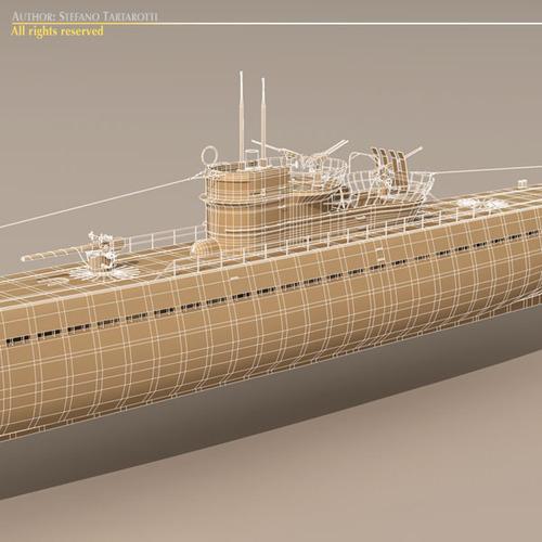 type ix u-boat submarine 3d model max 3ds fbx c4d dxf mtl 1