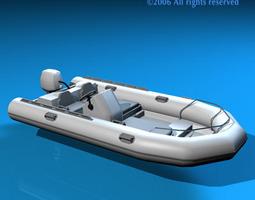 3D Zodiac boat