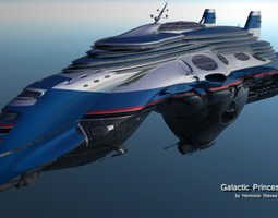 Gallactic Pricess Starcruiser 3D
