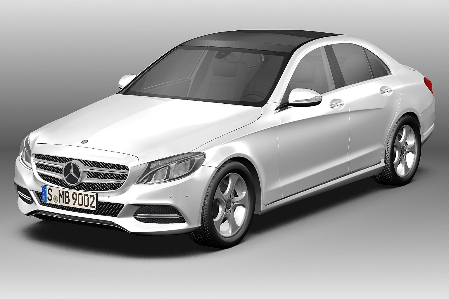 Captivating 2014 Mercedes Benz C Class 3d Model Max Obj Mtl 3ds Fbx C4d Lwo Lw Lws ...