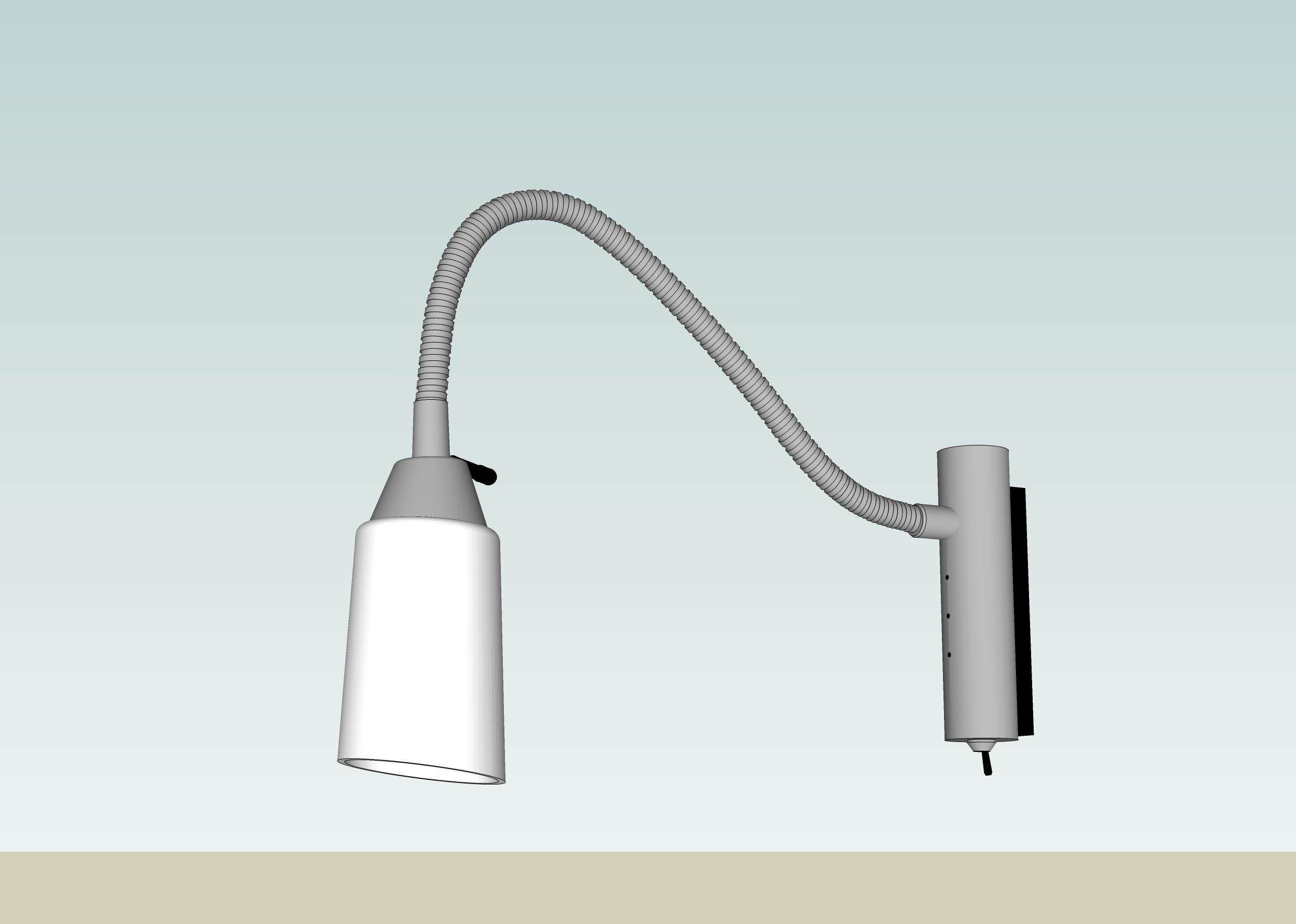 reading wall lamp 3d model skp 3. reading wall lamp 3D model   CGTrader