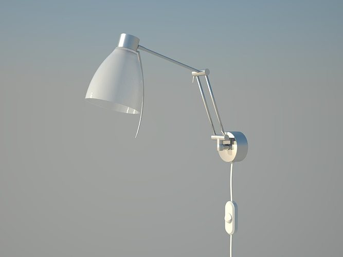 reading lamp on wall 3d model skp 1