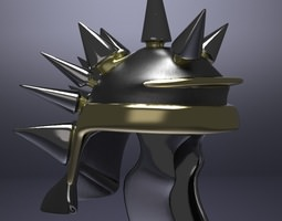 3D model Midieval Spiked Helm