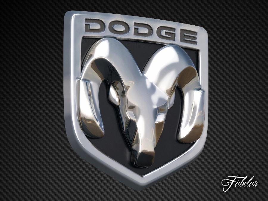 dodge emblem stl 1D Dodge Emblem  CGTrader