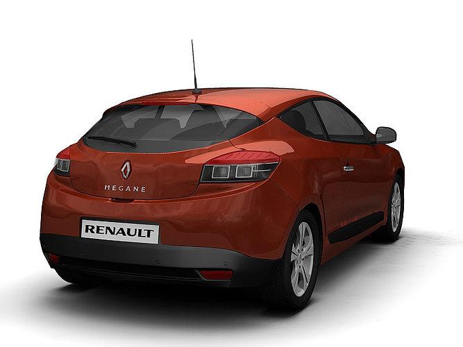 2009 renault megane coupe 3d model max obj 3ds fbx c4d lwo lw lws - Renault megane 2009 coupe ...