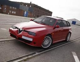 3D model Alfa Romeo 156 GTA Sportwagon