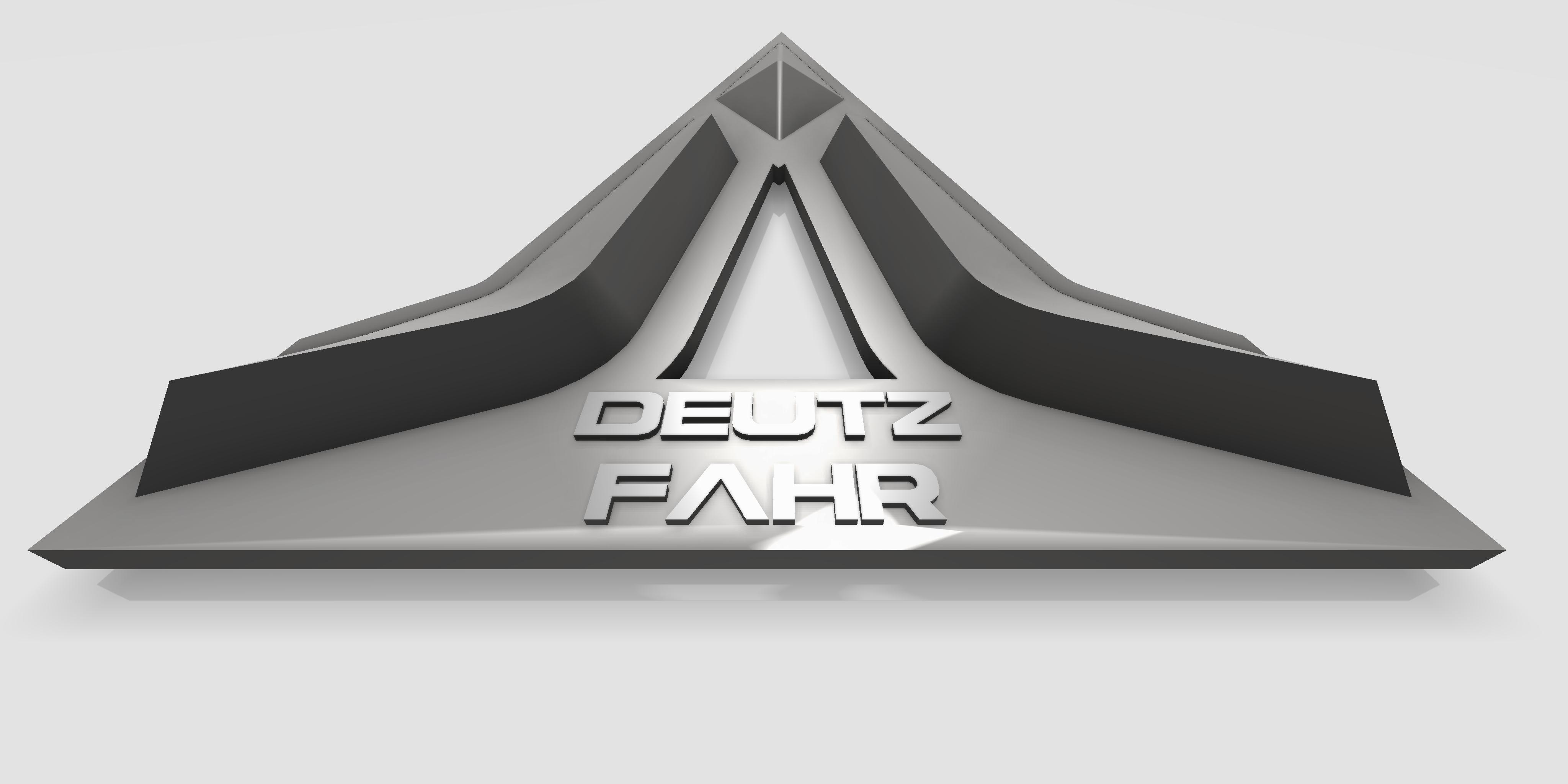 same deutz fahr logo 3d model 3d printable stl dwg ige igs