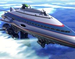 3D model Class II Gallactic Cruiser