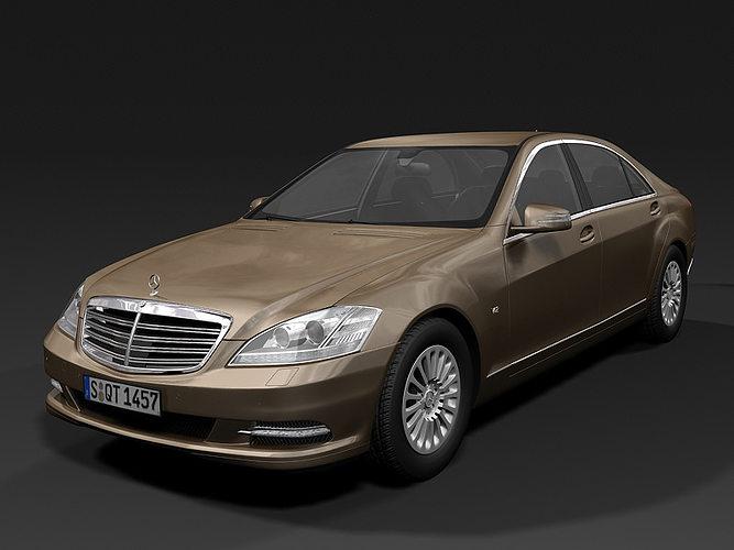 2010 mercedes benz s class 3d model max obj mtl 3ds fbx c4d lwo lw lws 1