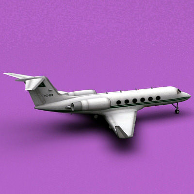 gulfstream iv aerospace saudi arabia air force 3d model max 3ds fbx c4d lwo lw lws ma mb 1