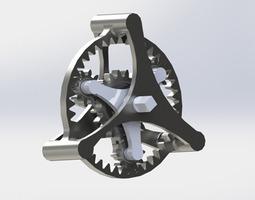 3d printable model planetary gear