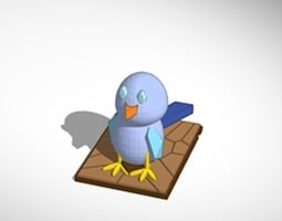 The blue bird 3D model
