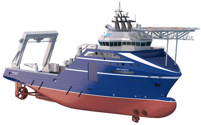 anchor handling tug rem gambler 3d model max obj fbx lwo lw lws mtl 1