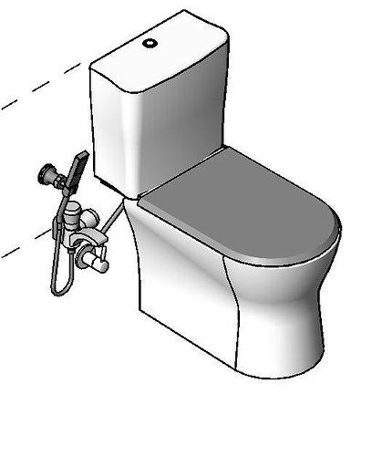 roca nexo wc 3d model rfa rvt 1