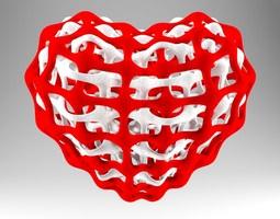 Interlinked Heart 3D Model