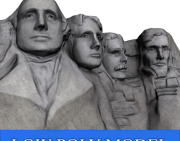 3d model mount rushmore low poly game-ready
