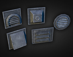 3D model Wall Vents Pack 01