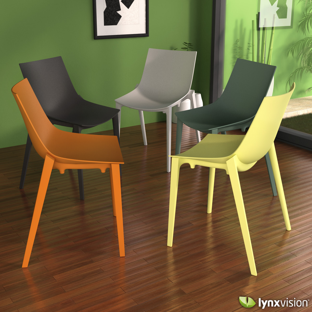 Basic chair design -  Zartan Basic Chair By Starck Quitllet 3d Model Max Obj Fbx Mtl 2