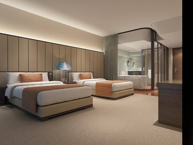 3d model modern hotel room cgtrader for W hotel bedroom designs