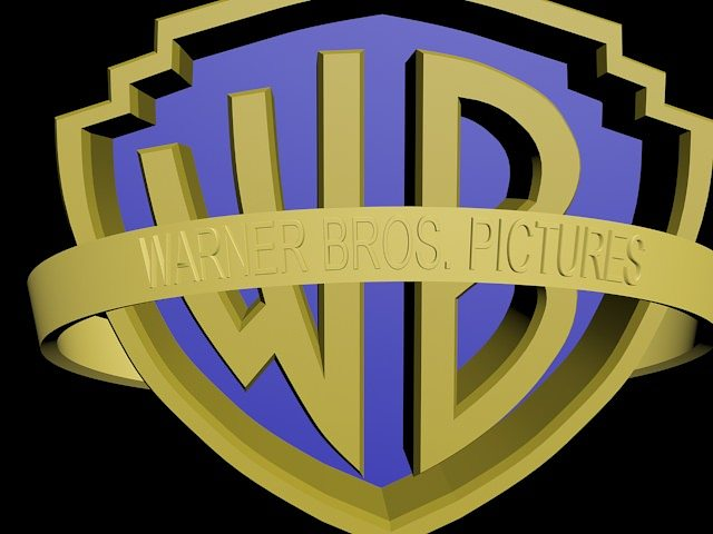 warner bros logo 3d model max 3ds mtl 1