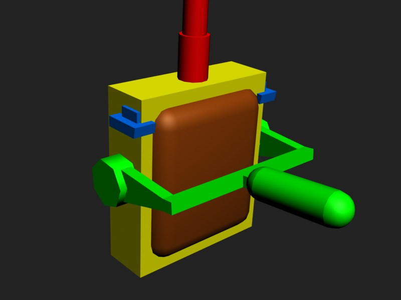 Toggle switch 3D Model Game ready | 3D model